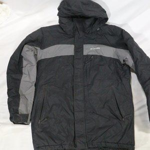 COLUMBIA Grey/Blk Hooded Lined Winter Jacket